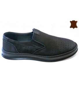 Men's shoes genuine leather 5008 BLACK