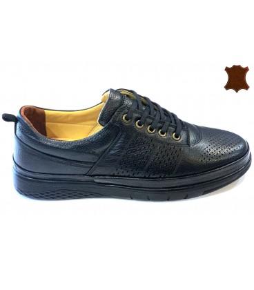 Мъжки обувки естествена кожа 603 BLACK