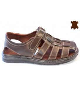 Mens Sandals Leather 208 BROWN
