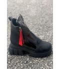 Women's Boots K18 BLACK-varnish
